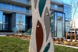 Basalt, Coloured Aluminum, Copper 6' x 2.5' River Green  - Richmond - Collaboration with Thomas Cannell